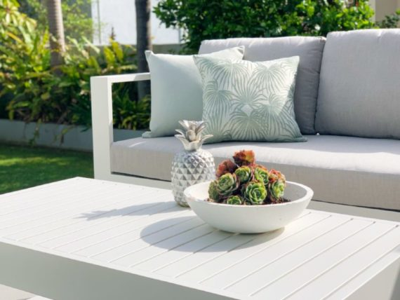 3 seater white outdoor sofa nz