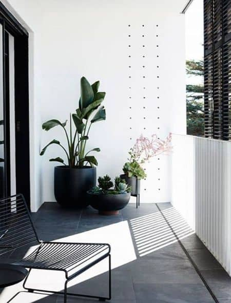 outdoor furniture and plants