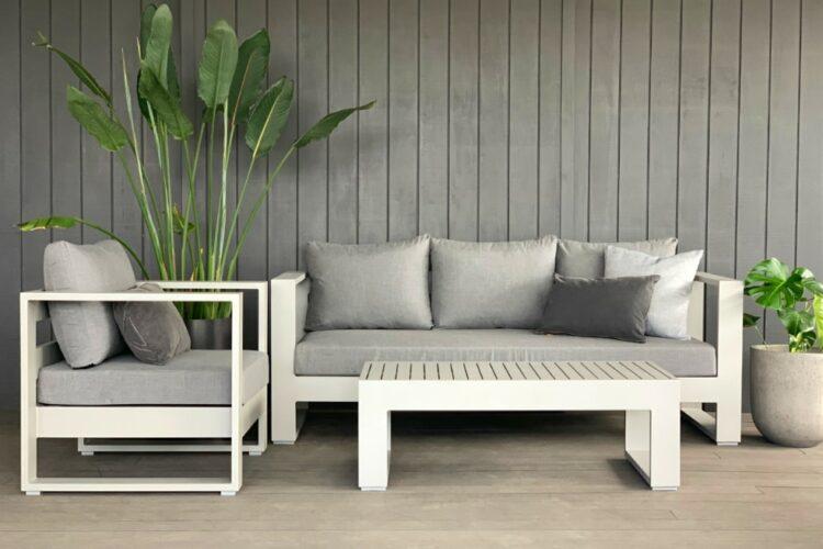 designer sunbrella outdoor lounge suite grey auckland