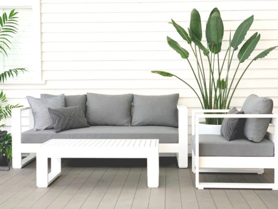 sunbrella white aluminium outdoor lounge suite nz