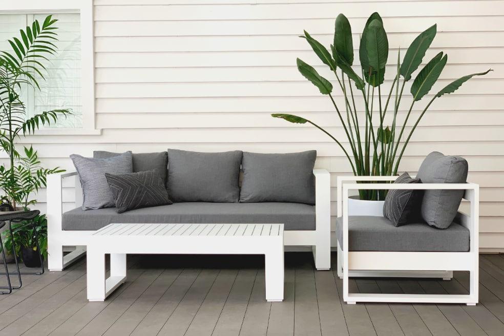 sunbrella white aluminium outdoor lounge suite best price for quality