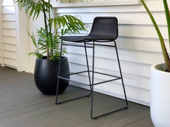 black outdoor bar stool nz