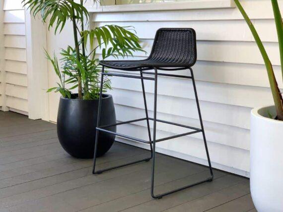 black outdoor bar stool nz