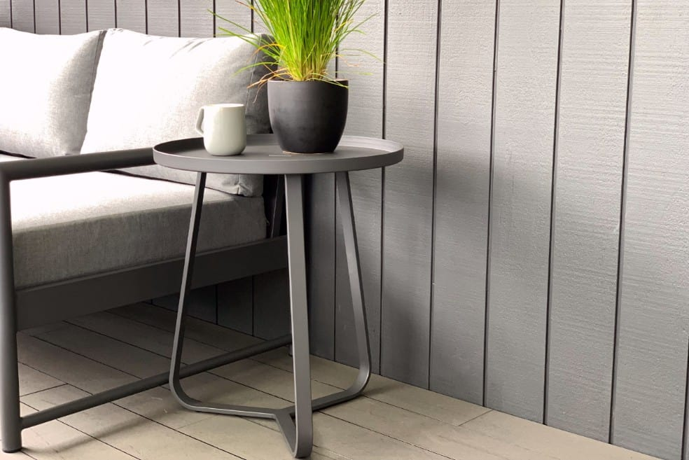 charcoal-outdoor-aluminium-side-table-nz