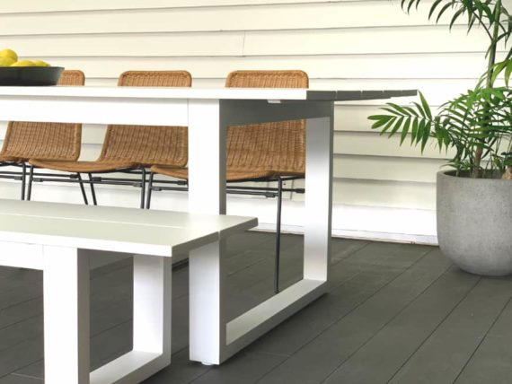 large 8 seater white aluminum outdoor table