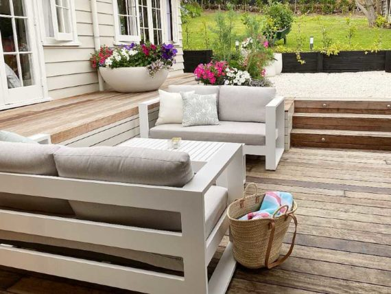 quality stylish outdoor 2 seater sofa