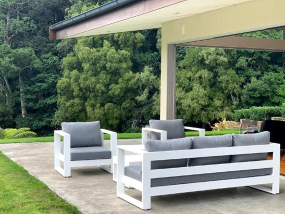 modern single luxurious outdoor armchair nz