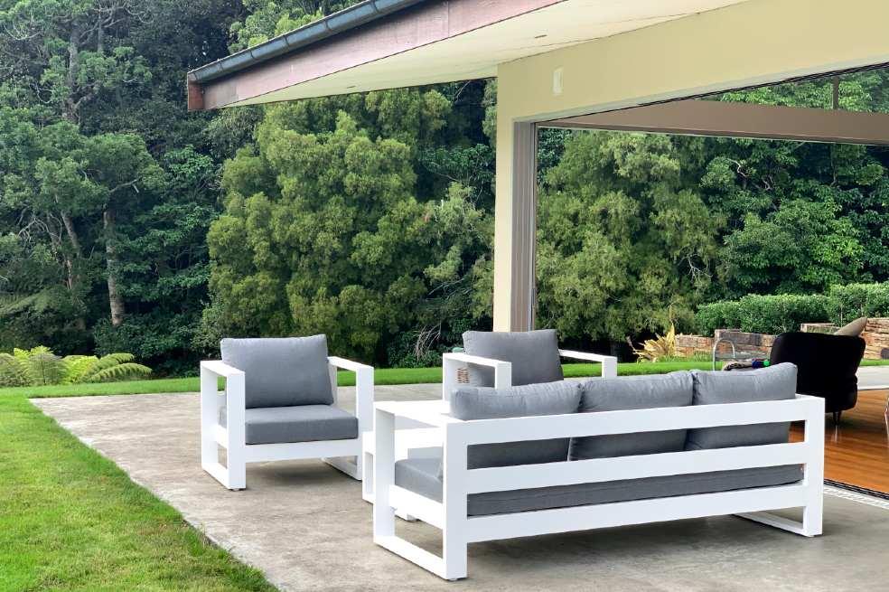 modern single luxurious outdoor armchair nz