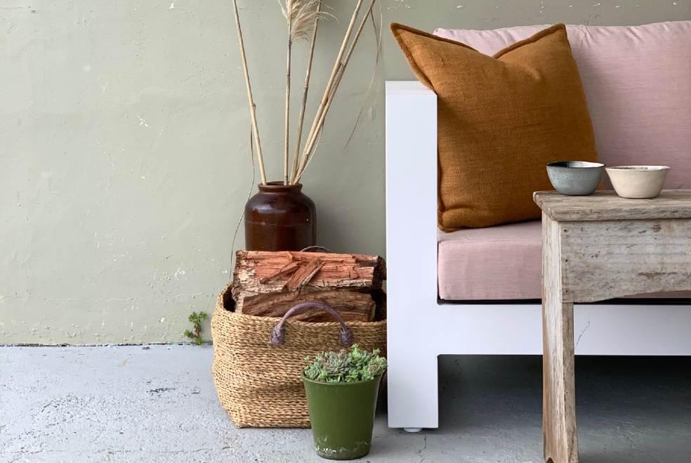 single outdoor chair blush sunbrella fabric nz