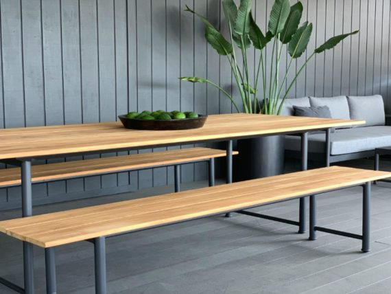 modern style outdoor-teak-dining-set-nz