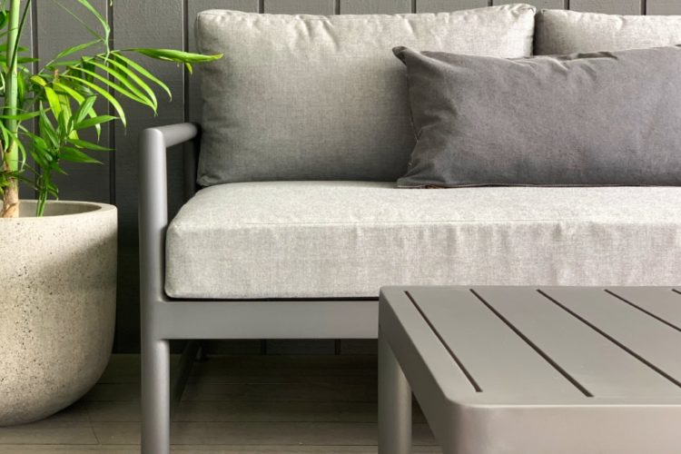 modern sunbrella 3 seater sofa anthracite charcoal warehouse prices