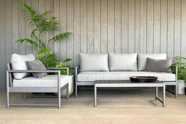 nz sunbrella outdoor lounge suite anthracite charcoal