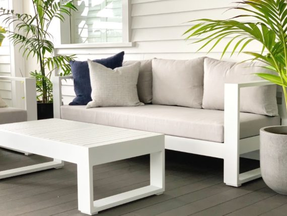 white outdoor lounge suite sunbrella nz summer 2021