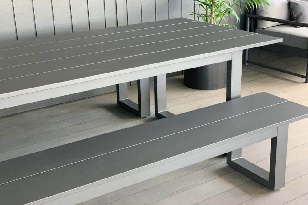 charcoal 2400 outdoor table and benches nz