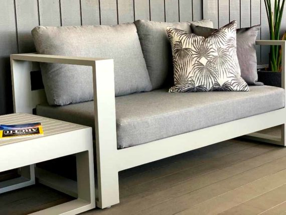 grey 2 seater oudoor sofa sunbrella nz