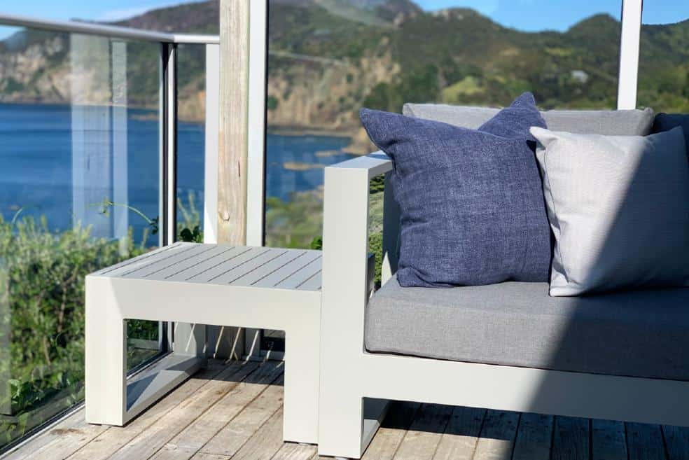 grey metal corner outdoor sofa sunbrella nz