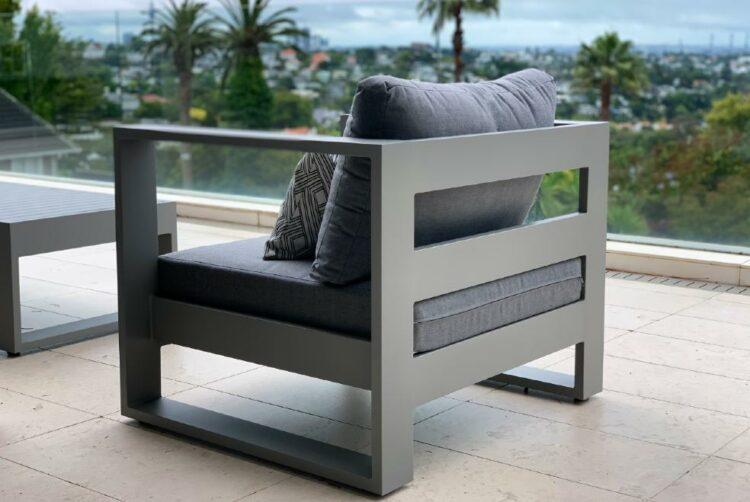 grey single outdoor sunbrella chair Auckland
