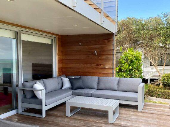 grey sunbrella contemporary outdoor corner sofa