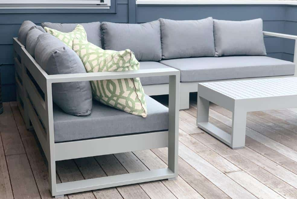 large grey corner slouchy outdoor sofa nz