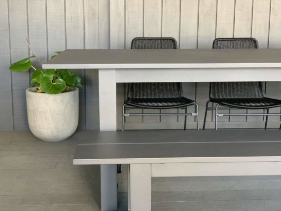 long lunch anthracite outdoor dining table nz