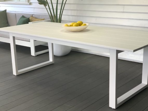 long lunch white aluminium outdoor 8 seater table nz 2019