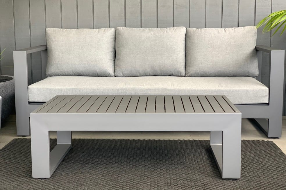 stylish minimalist charcoal grey outdoor sofa nz