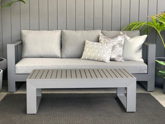 984 charcoal grey outdoor sunbrella sofa