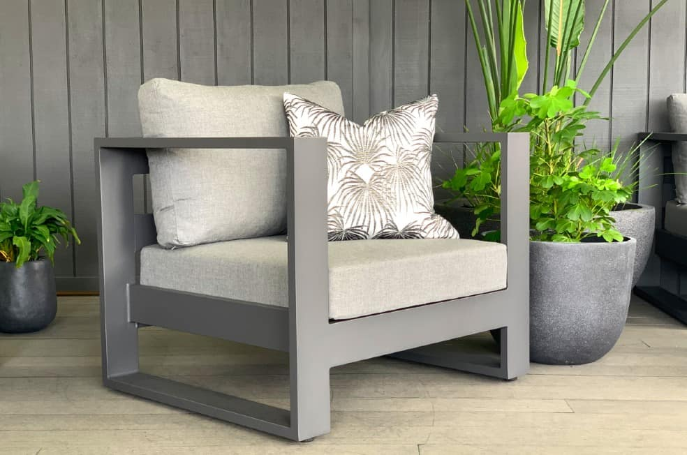 best value modern charcoal outdoor chair nz