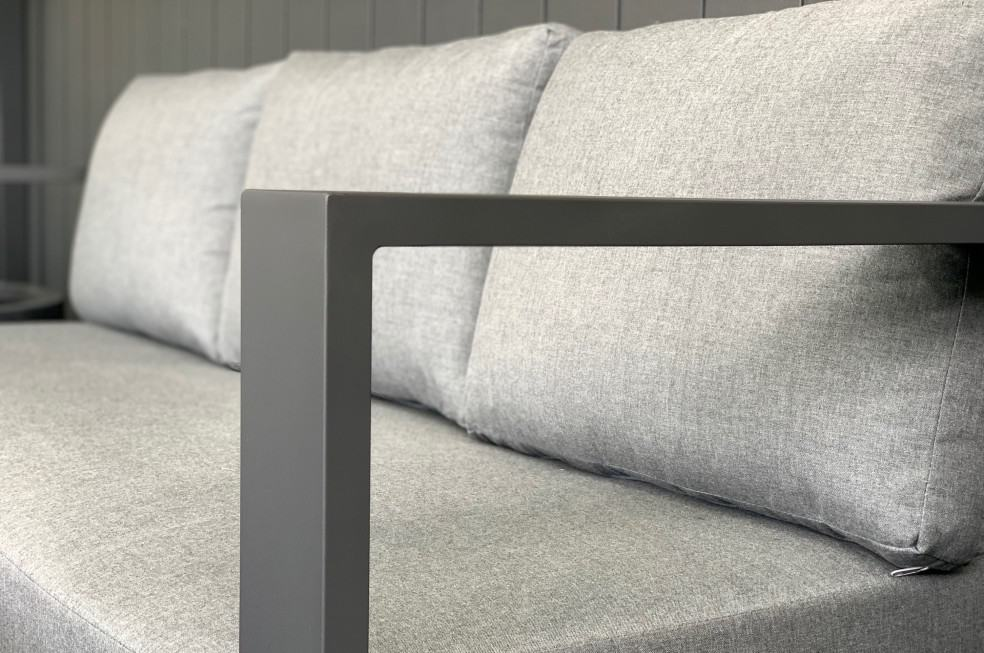 grey fabric charcoal frame outdoor sofa auckland warehouse