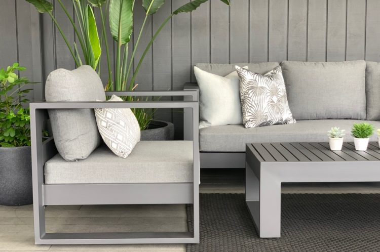 premium quality outdoor sofa suite charcoal frame