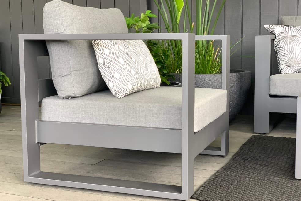 single outdoor chair anthracite grey outdoor proof
