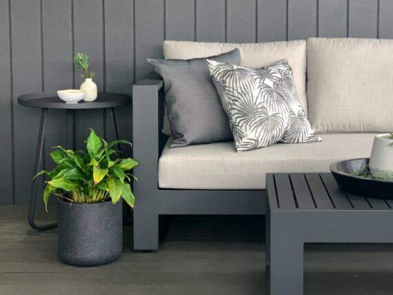 charcoal aluminium outdoor sofa