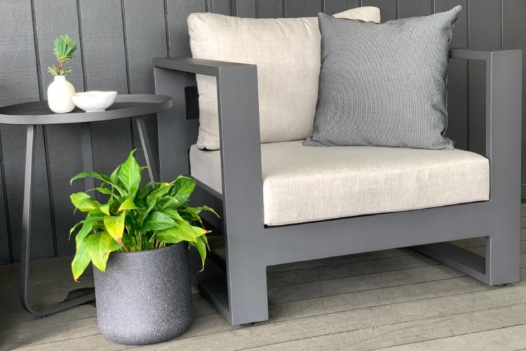 charcoal frame outdoor chair sunbrella nz
