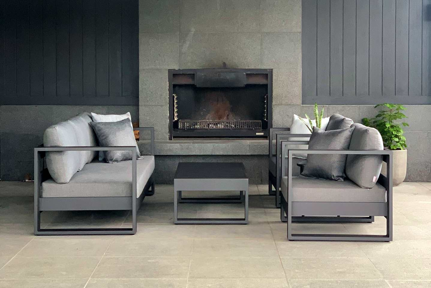 dark outdoor furniture set nz