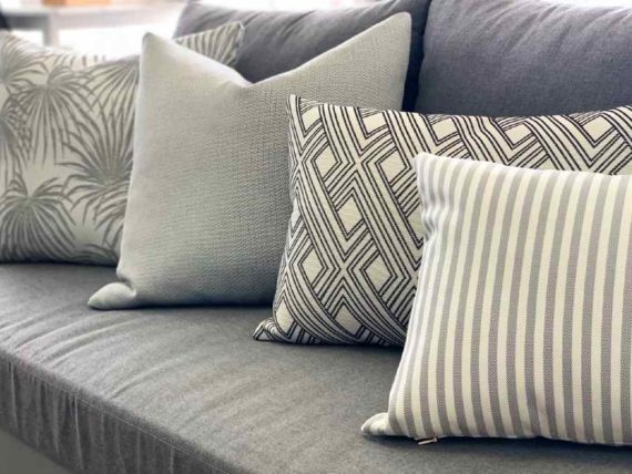 selection of outdoor cushions grey nz