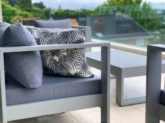 stylish botanical print outdoor cushions charcoal nz