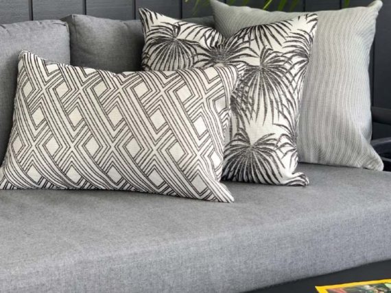 outdoor cushions grey prints nz