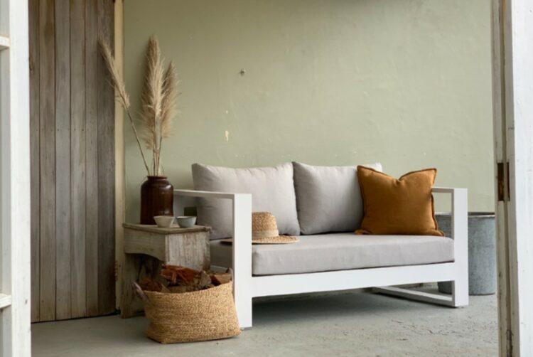 2 seater sofa natural sunbrella nz