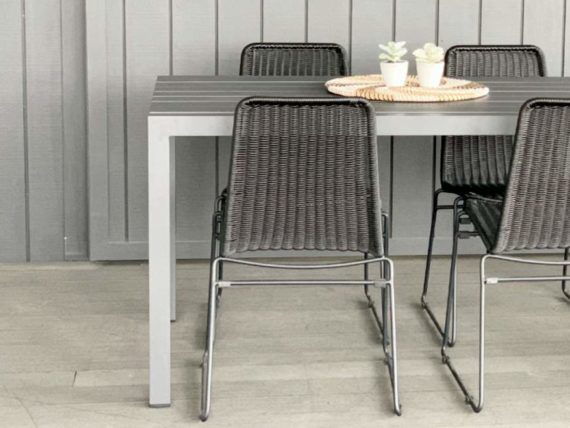 2M long grey outdoor table auckland