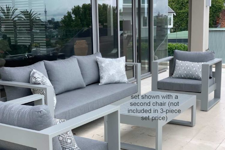 3 piece outdoor lounge suite sunbrella grey nz