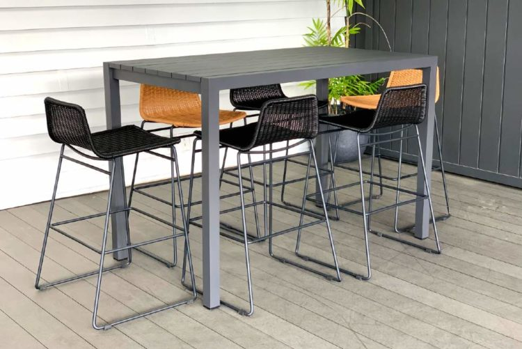bar leaner and stools in grey or white nz