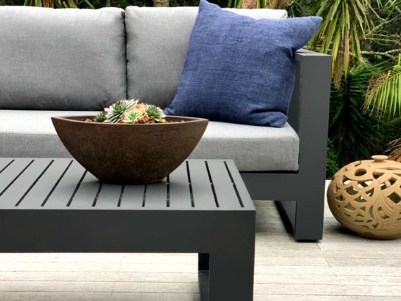 charcoal 2 seater grey cushions auckland