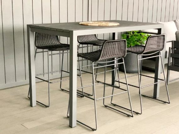 grey or white bar table leaner 4 to 6 seater nz