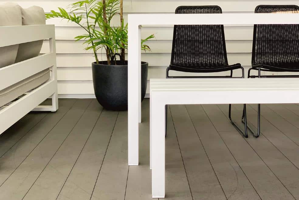 large white outdoor dining table nz