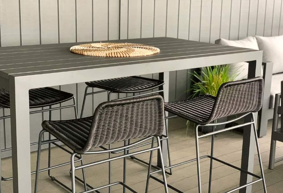 outdoor aluminium bar leaner bar stools nz