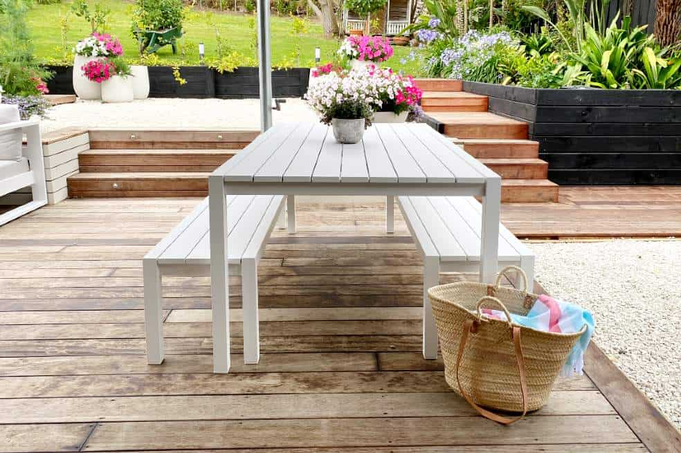 quality contemporary outdoor table benches