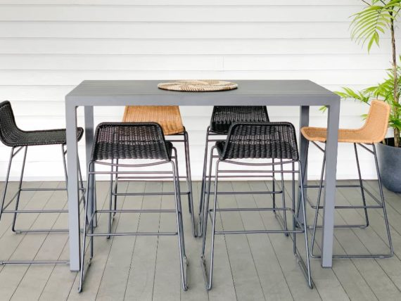 small aluminium outdoor bar table auckland