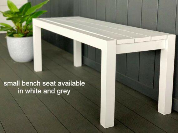 small grey outdoor benchseat