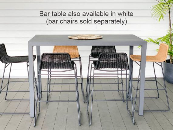 small white outdoor bar table auckland