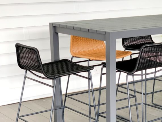 stylish modern outdoor bar table and chairs nz